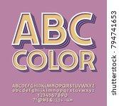 retro styled set of alphabet... | Shutterstock .eps vector #794741653