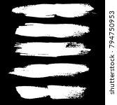 grunge ink brush strokes set.... | Shutterstock .eps vector #794750953