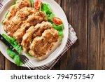 chicken medallion with red...   Shutterstock . vector #794757547