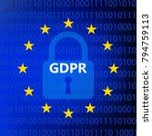 gdpr   general data protection... | Shutterstock .eps vector #794759113