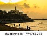 tel aviv city center and jaffa   Shutterstock . vector #794768293