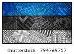 estonia flag. estonian national ... | Shutterstock .eps vector #794769757