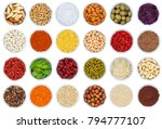 collection of spices and herbs... | Shutterstock . vector #794777107