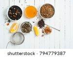 medical tea crops variation on... | Shutterstock . vector #794779387