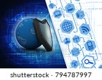 3d illustration security... | Shutterstock . vector #794787997