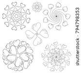 a set of mandalas. decorative... | Shutterstock .eps vector #794798353