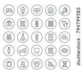 medicine  healthcare icons set... | Shutterstock .eps vector #794799583
