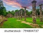 columns of the thousand... | Shutterstock . vector #794804737