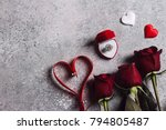 valentines day marry me wedding ... | Shutterstock . vector #794805487