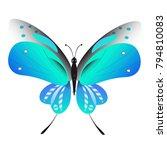 beautiful butterflies  blue... | Shutterstock .eps vector #794810083