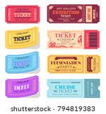 ticket and presentation party... | Shutterstock .eps vector #794819383