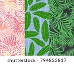 set of three seamless floral... | Shutterstock .eps vector #794832817