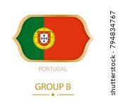 the flag of portugal is made in ... | Shutterstock .eps vector #794834767