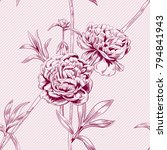 vector square floral seamless... | Shutterstock .eps vector #794841943