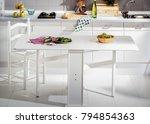 white kitchen furniture | Shutterstock . vector #794854363