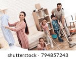 the family is engaged in... | Shutterstock . vector #794857243