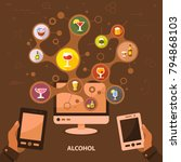 alcohol flat icon concept....   Shutterstock .eps vector #794868103