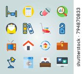 icon set about real assets.... | Shutterstock .eps vector #794870833