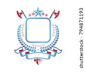 graphic emblem composed using... | Shutterstock .eps vector #794871193