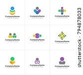 people logo design vector | Shutterstock .eps vector #794878033