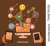 gynecology flat icon concept....   Shutterstock .eps vector #794879533