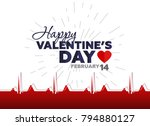 happy valentine's day poster.... | Shutterstock .eps vector #794880127