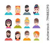 people avatars collection.... | Shutterstock .eps vector #794882293