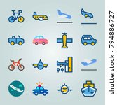 icon set about transport. with... | Shutterstock .eps vector #794886727