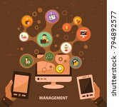 management flat icon concept....   Shutterstock .eps vector #794892577
