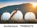 crude oil tank in the oil... | Shutterstock . vector #794896273