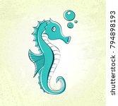 sea horse doodle  vintage...   Shutterstock .eps vector #794898193