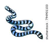 beautiful  but dangerous...   Shutterstock .eps vector #794901103