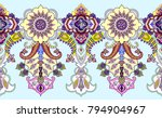 seamless wide border with... | Shutterstock .eps vector #794904967