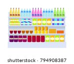 supermarket variety of products ... | Shutterstock .eps vector #794908387