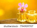 bottle of aroma essential oil...   Shutterstock . vector #794909707