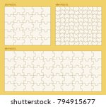 sets of puzzle pieces vector... | Shutterstock .eps vector #794915677