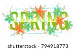 vector spring banner with... | Shutterstock .eps vector #794918773