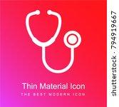 stethoscope medical tool red... | Shutterstock .eps vector #794919667