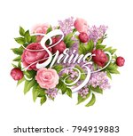 stylish poster with beautiful... | Shutterstock .eps vector #794919883