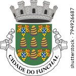 coat of arms of funchal. the... | Shutterstock .eps vector #794926687