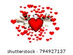 red hearts 3d rendering | Shutterstock . vector #794927137