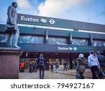 london  january  2018  euston... | Shutterstock . vector #794927167