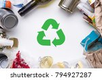 picture garbage for refining... | Shutterstock . vector #794927287