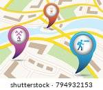 set of tourism services map... | Shutterstock .eps vector #794932153