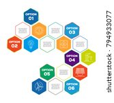 sustainability infographic... | Shutterstock .eps vector #794933077