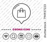 shopping bag line icon. online... | Shutterstock .eps vector #794937223