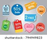 sale tag label of supermarket... | Shutterstock .eps vector #794949823