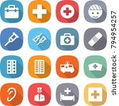 flat vector icon set   doctor... | Shutterstock .eps vector #794954257