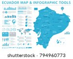 ecuador map   detailed info... | Shutterstock .eps vector #794960773