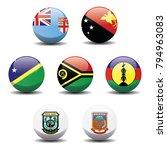 melanesia country national... | Shutterstock .eps vector #794963083